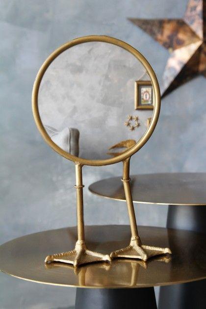 Bronze Bird Feet Table Vanity Mirror Mirror Modern Mirror Wall Gold Vanity Mirror