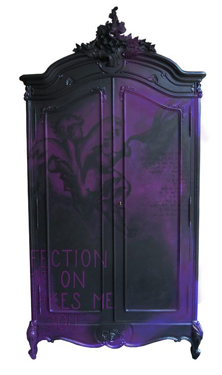 Purple Wardrobe Dresser Furniture