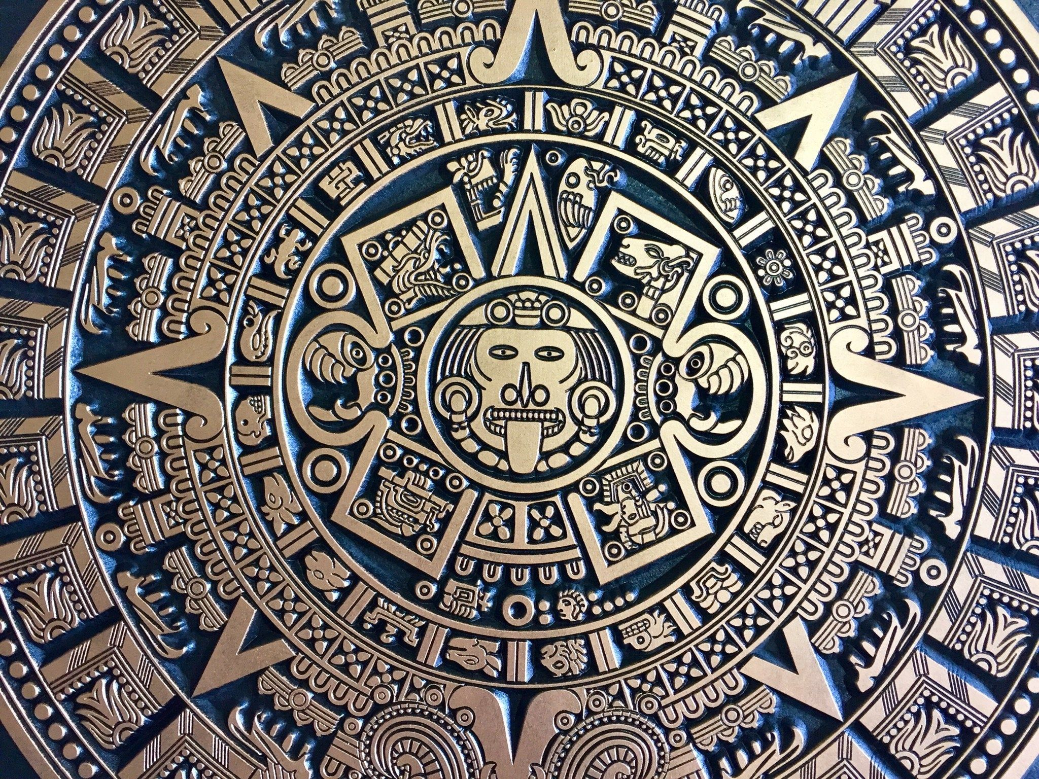 Aztec Calendar Carved Wall Art Aztec Amazing Gift Relief