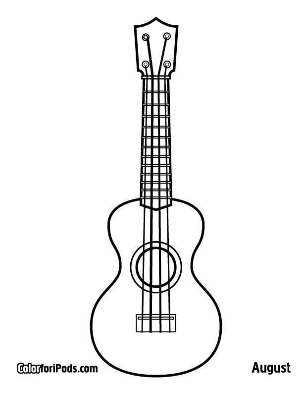 Host An Ukulele Coloring Exhibition Or Competition From Time To Time I Like To Host Coloring Comp Teaching Ukulele Elementary Music Classroom Elementary Music