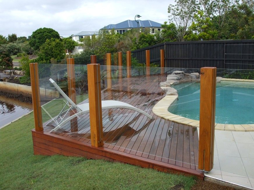 ideas for landscape timbers ilandscape products decking around pool alexander - Pool Landscaping
