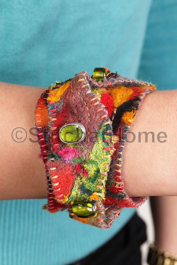Editie 51 - najaar 2015 | 3D armband  www.stitchathome.nl