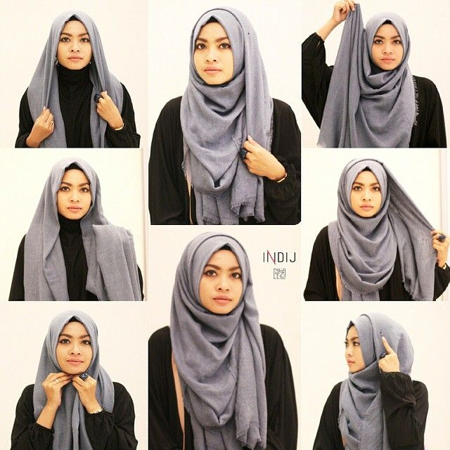 Basic Hijab Tutorial For Beginners Hjabbi Pinterest Hijabs Shapes And Easy