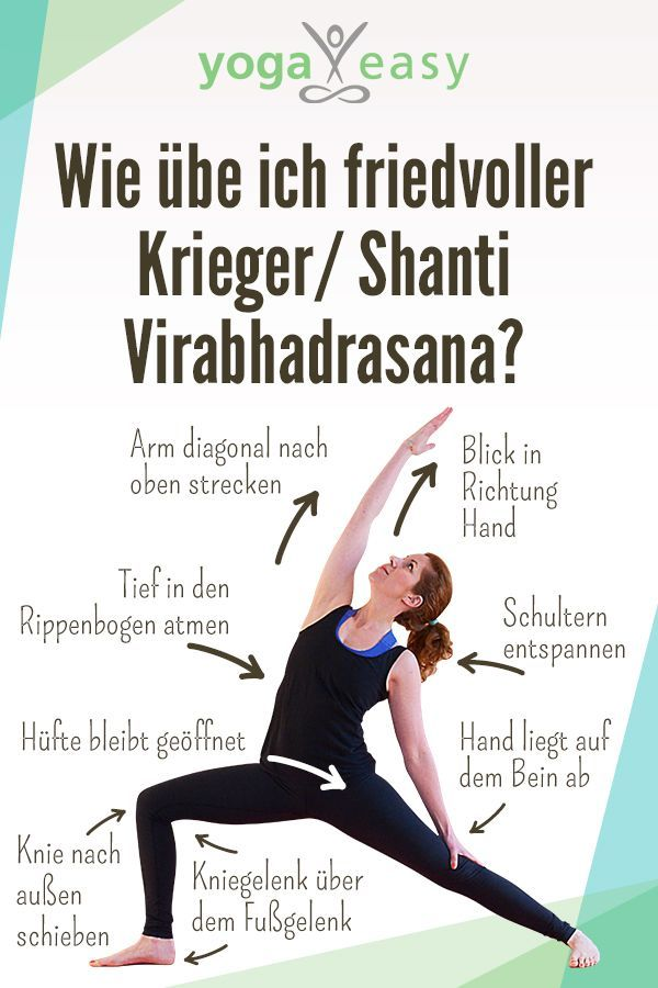 Yoga-Übung: virabhadrasana II rückgebeugt