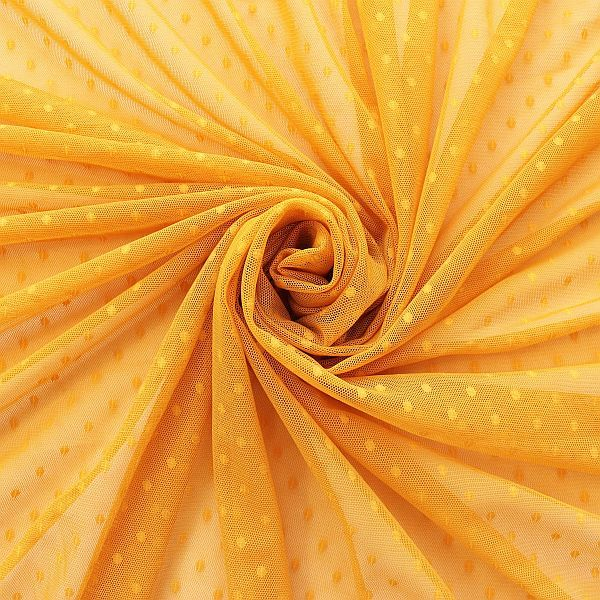 Soft Tüll Mesh Stoff Punkte Farbe Gold-Gelb
