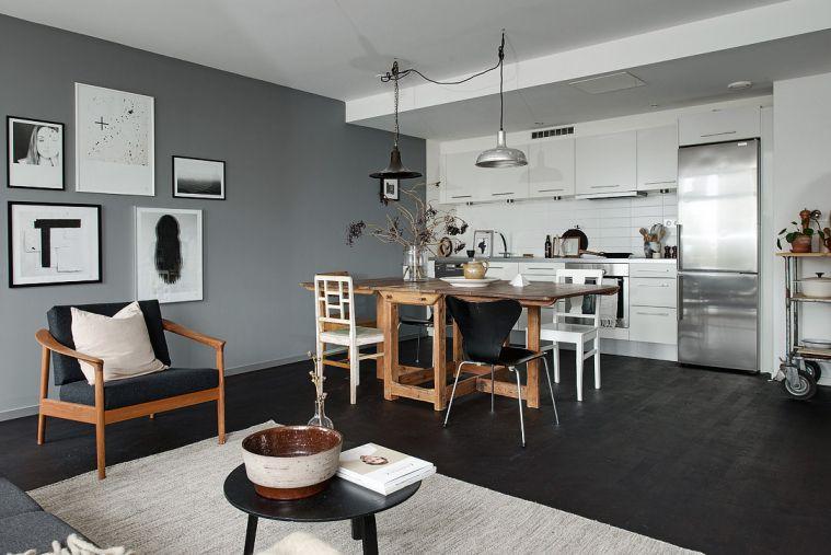 Huis vol met zwart, wit en grijstinten - Home | Pinterest - Zwart ...