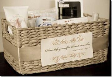 Emergency Toilet Basket In Bathroom When Hosting Parties