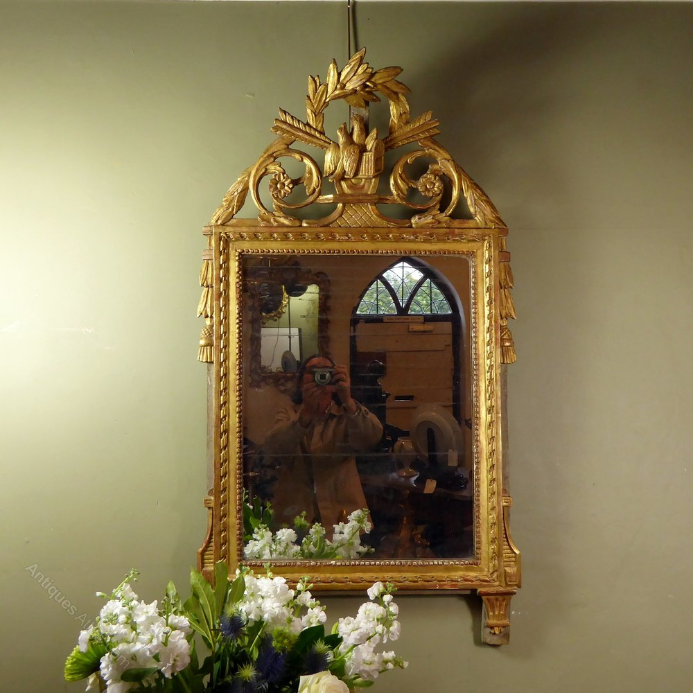 18th C Gilt Dove Mirror Mirror Hanging Pendants Antiques