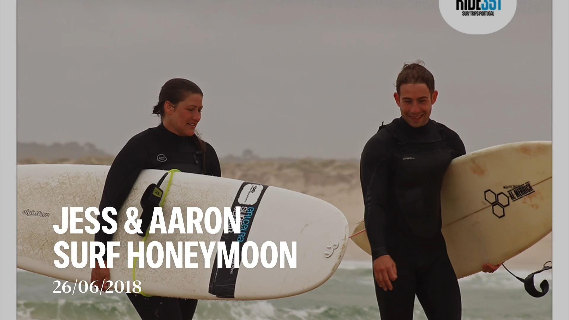 Tbt To Jess Aaron Surf Honeymoon In Portugal Video In 2020 Surfing Surf Trip Honeymoon