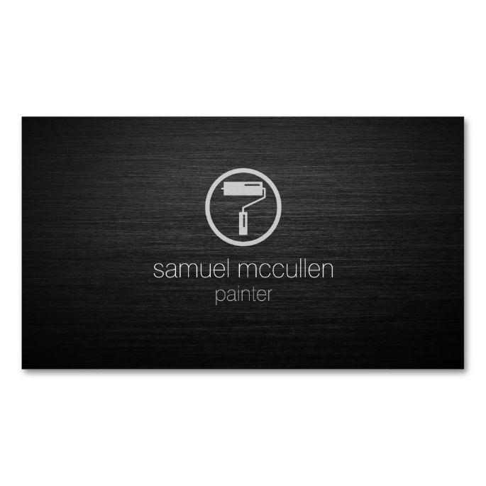 Painter roller brush icon brushed metal skills business card painter roller brush icon brushed metal skills business card colourmoves