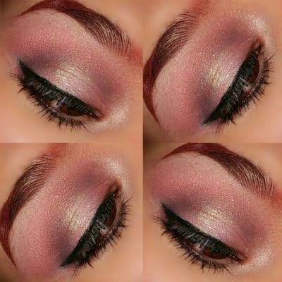 This beautiful everyday eye makeup uses different shades of pink for a dainty pop of color. Recreate this beautiful look using these products.