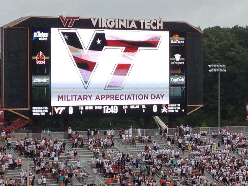 Sept. 13, 2014 Virginia tech, Military appreciation, Hokies