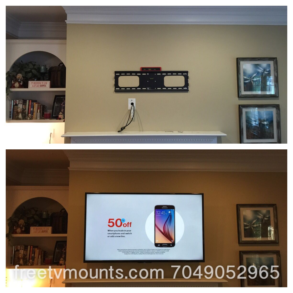 Professional TV wall mounting service Cheaper than Geek Squad ...