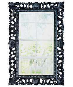 Inspire Rococo High Gloss Wall Mirror Black At Argos Co