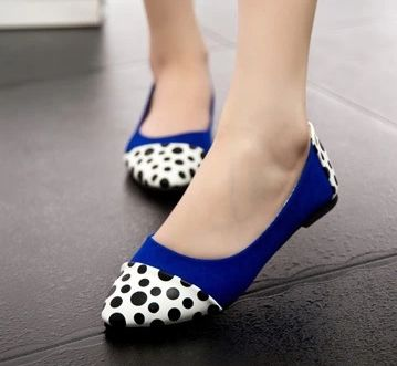 US $19.90 - 21.90 / Pair Free Shipping 2014 Autumn Women Brand Pointy Toe Flats Women's Shoes Flats With Dot Ladies Slip On Shoe For Woman Flat Casuals Black ...
