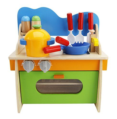 Lewo Children Wooden Play Kitchen Set Pretend Role Cook Learning Toys For Kids Cool
