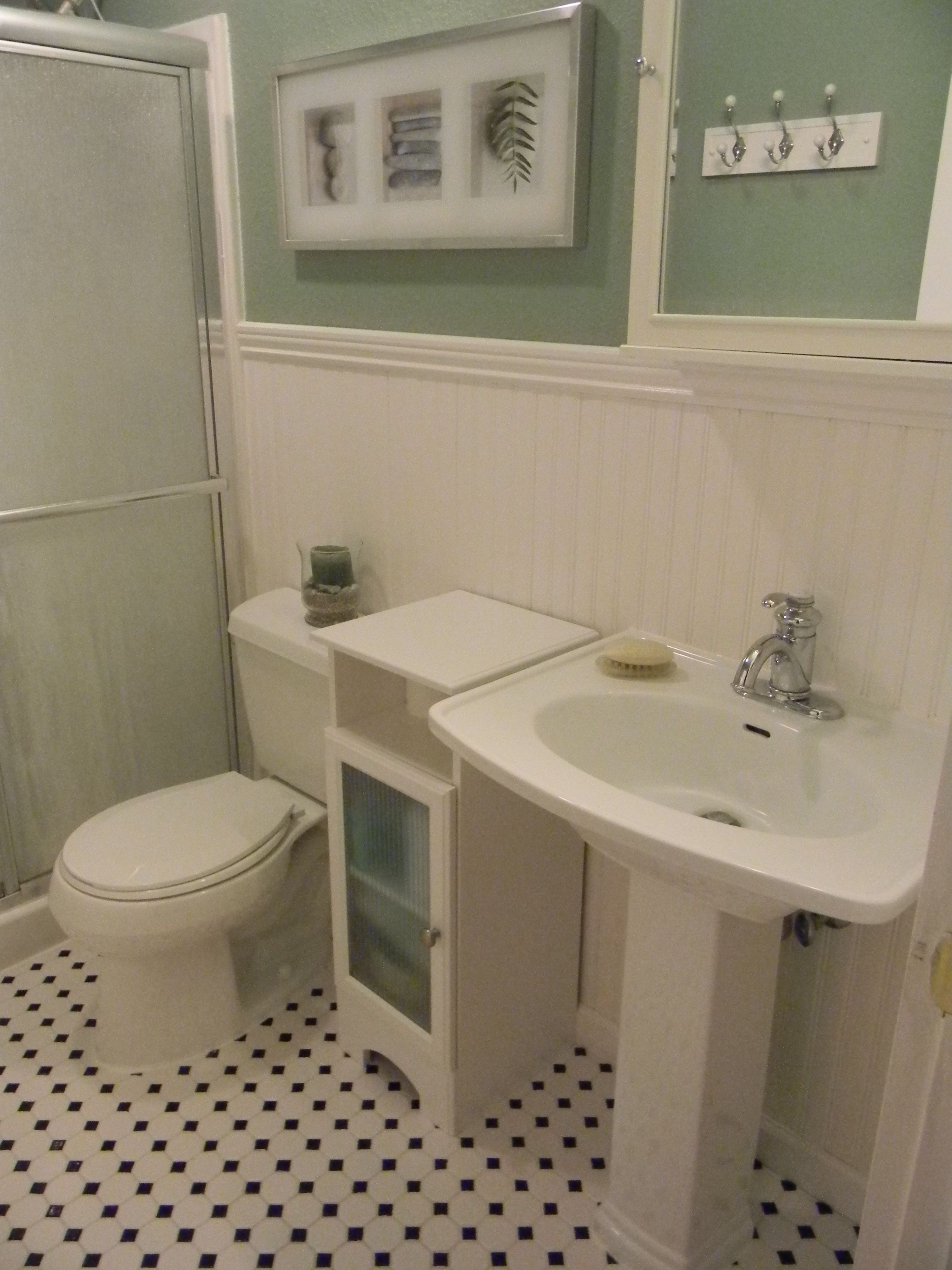 Bathroom with wainscoting projects to try pinterest