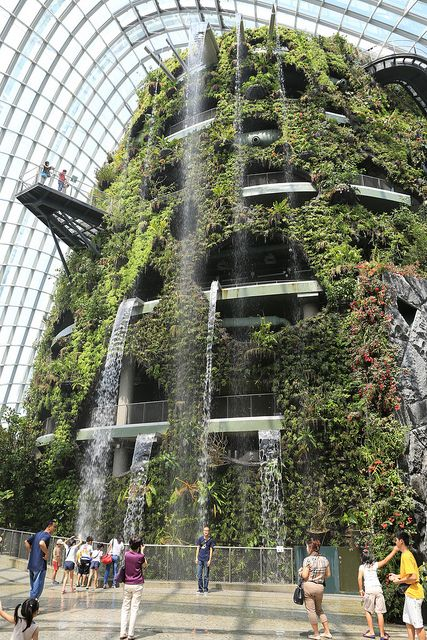 The Cloud Forest, Gardens by the Bay, Singapore Family