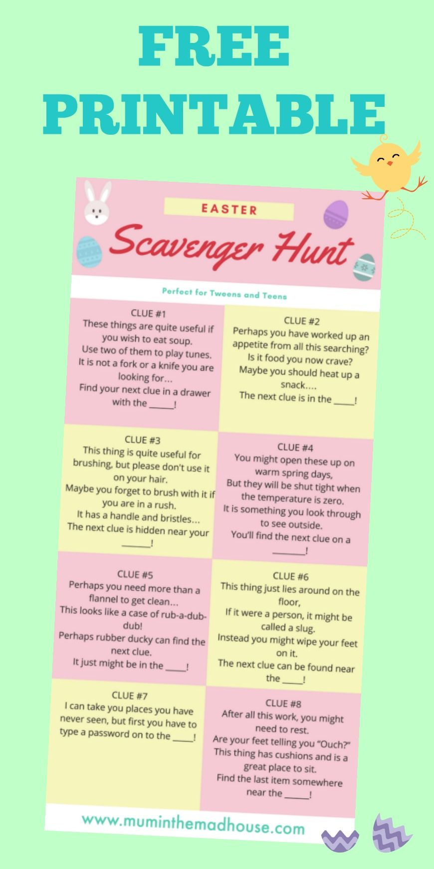 Easter Egg Hunts for Teenagers Easter scavenger hunt