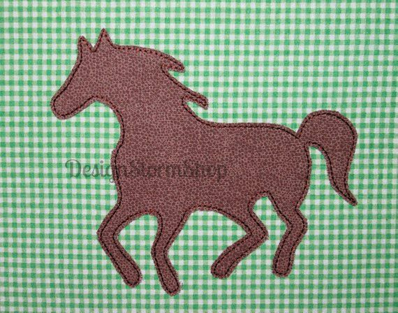 Horse applique design machine embroidery farm animal pony applique