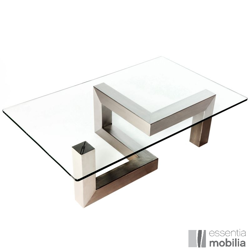Table Basse Sur Mesure Finition Inox Brosse Table De Designer Table Basse Design Table Basse Bois Table Basse
