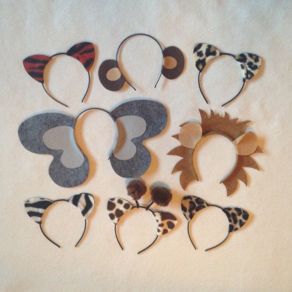 Zoo Theme Animal Ear Headbands für Geburtstagsfeiern Favors, Baby Shower, Bachelorette Parties, Wedding Photo Booth Prop, und Halloween Kostüm #giraffecostumediy