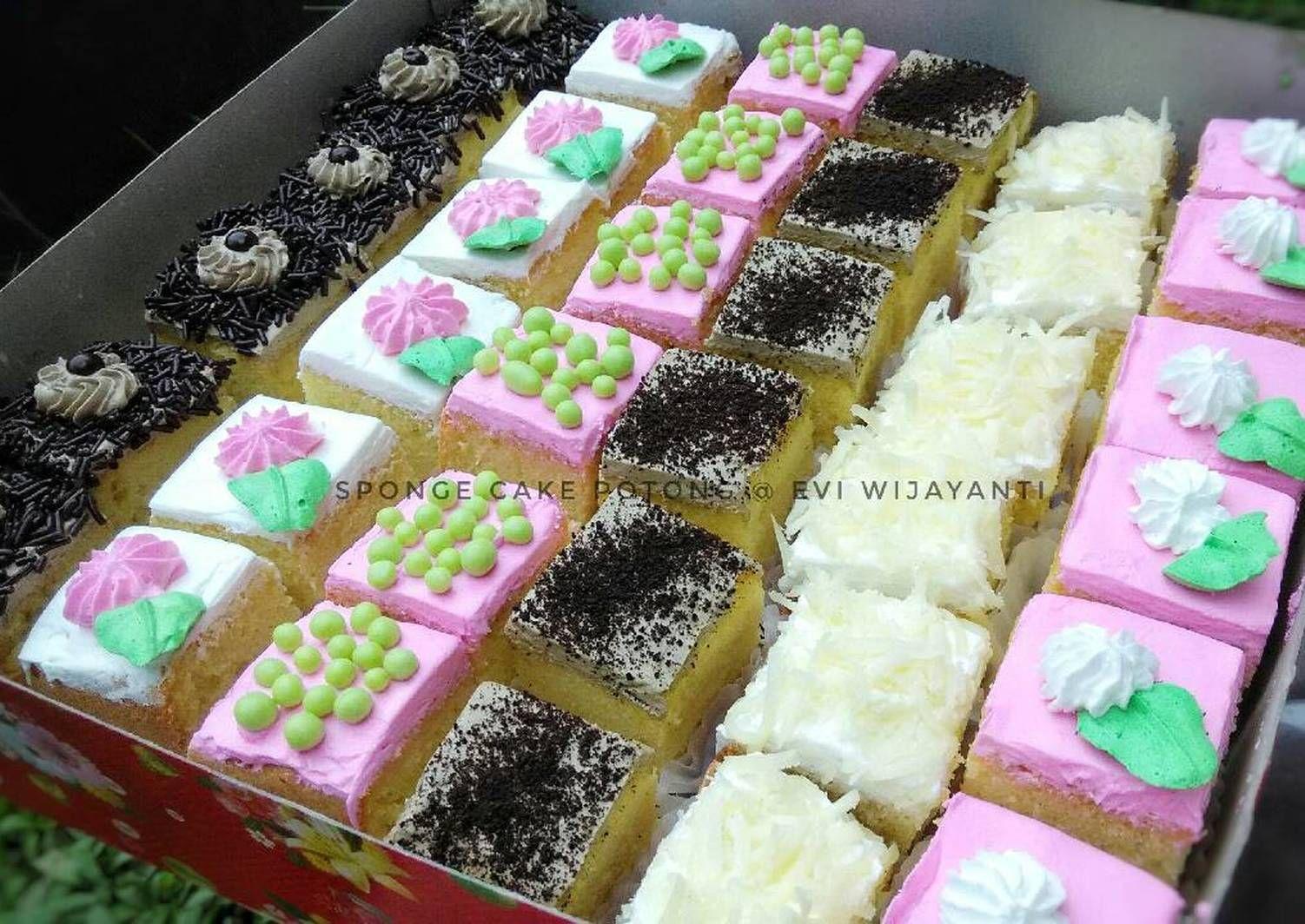 Pin Di Sponge Cake Potong