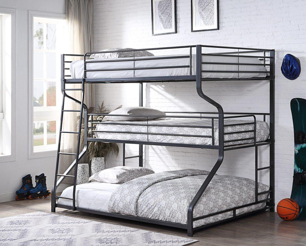 Best 3 Tier Full Twin Queen Bunk Bed Bunk Beds For Boys Room 400 x 300