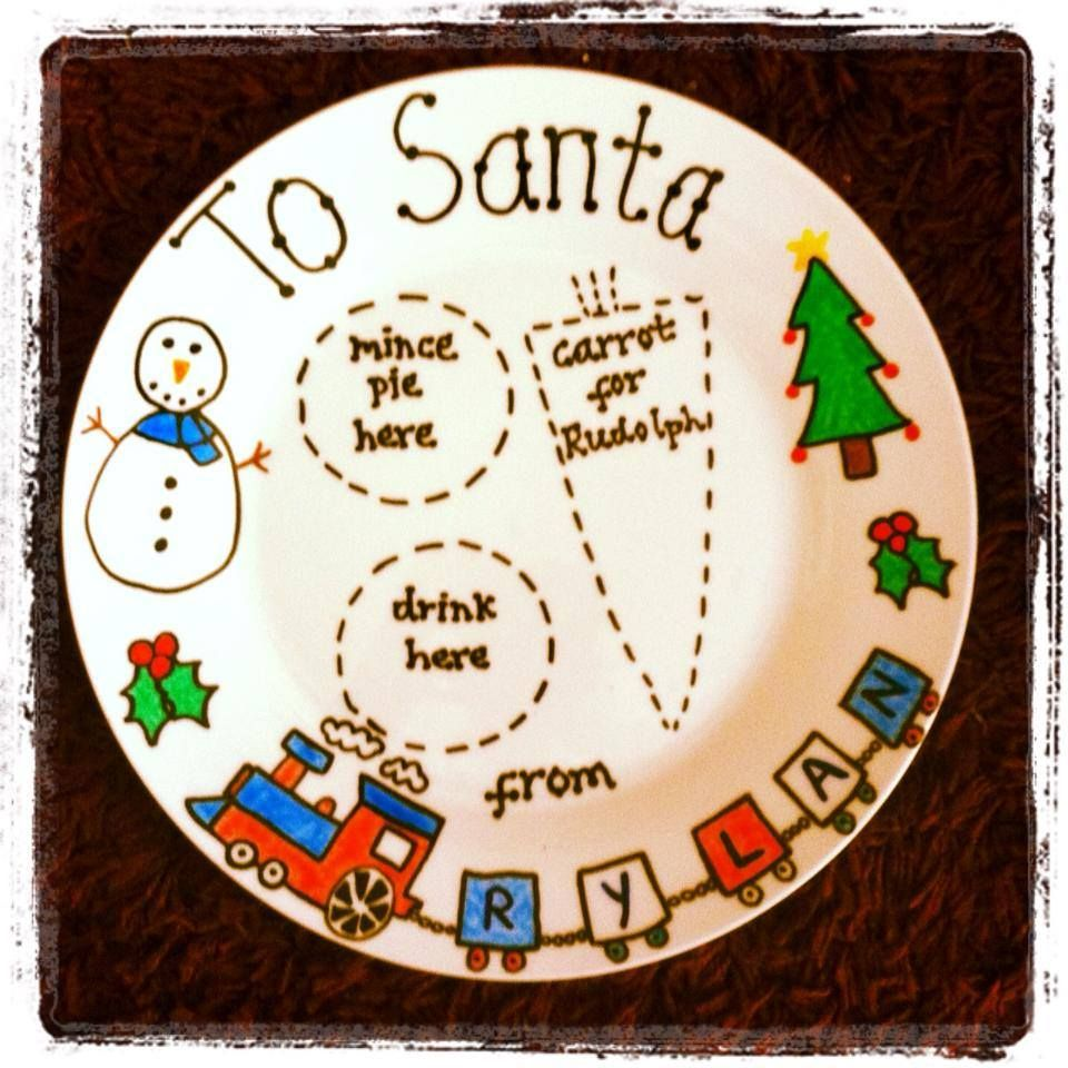 Personalised Christmas plates from  Heart Shaped Box Gifts on facebook! Any colour, any name!