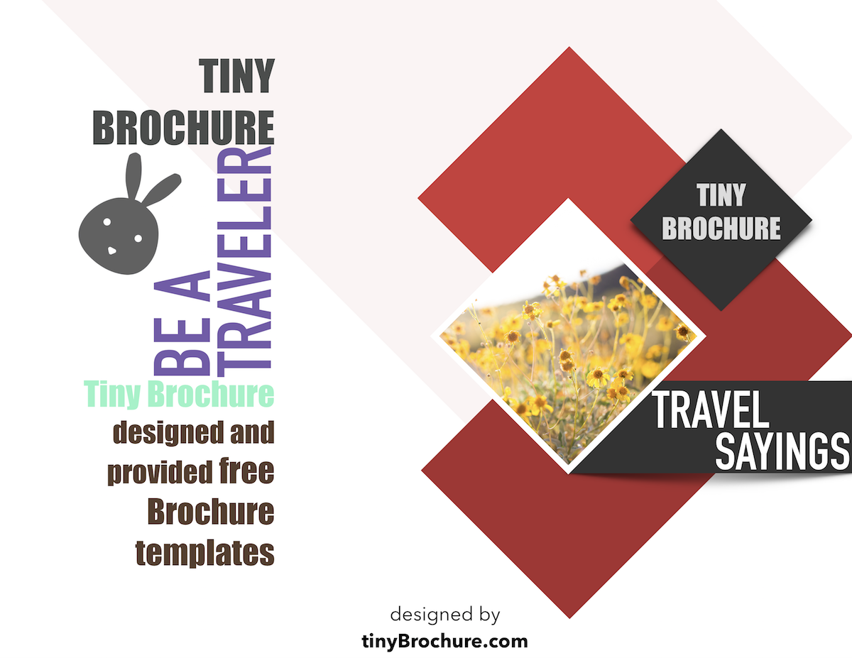 How To Make A Brochure Brochure About Travel Brochure For Travel