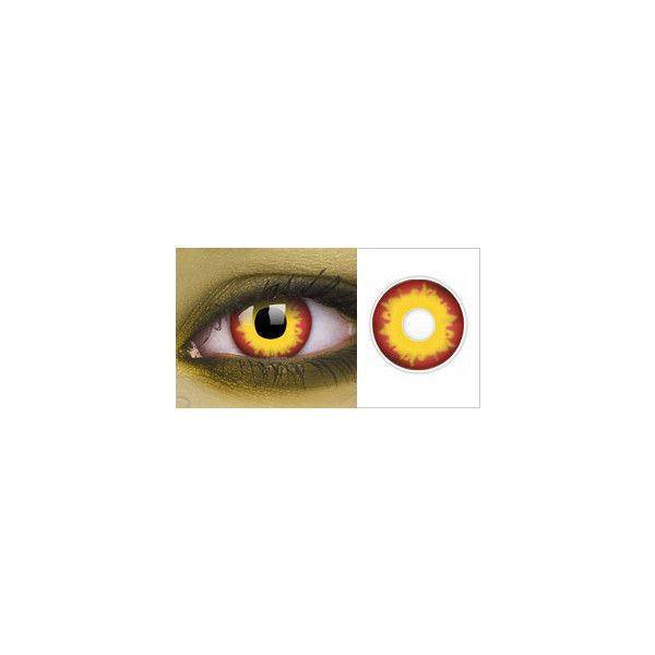 4e137b04d2f Evil Dead Zombie Contact Lenses ❤ liked on Polyvore featuring accessories