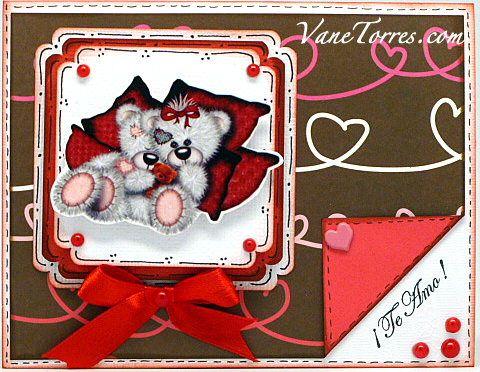 Tarjeta de San Valentín Te Amo
