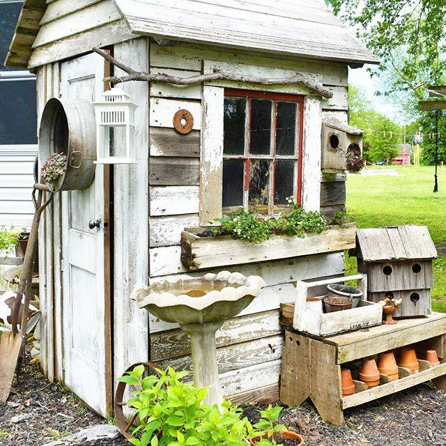 Diy Potting Shed From Reclaimed Lumber Garden Sheds