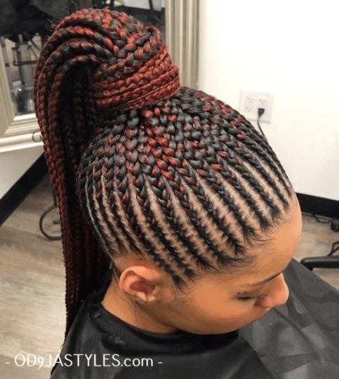 Women S Hairstyle 2020 Black Girls 2020 Braid Hairstyles In 2020 African Hair Braiding Styles African Braids Hairstyles Feed In Ponytail