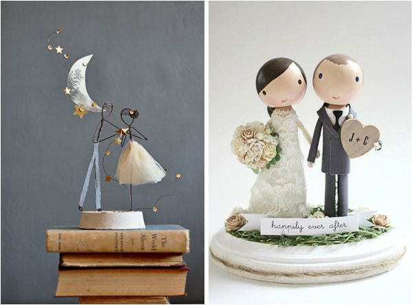 images for unique wedding cake toppers
