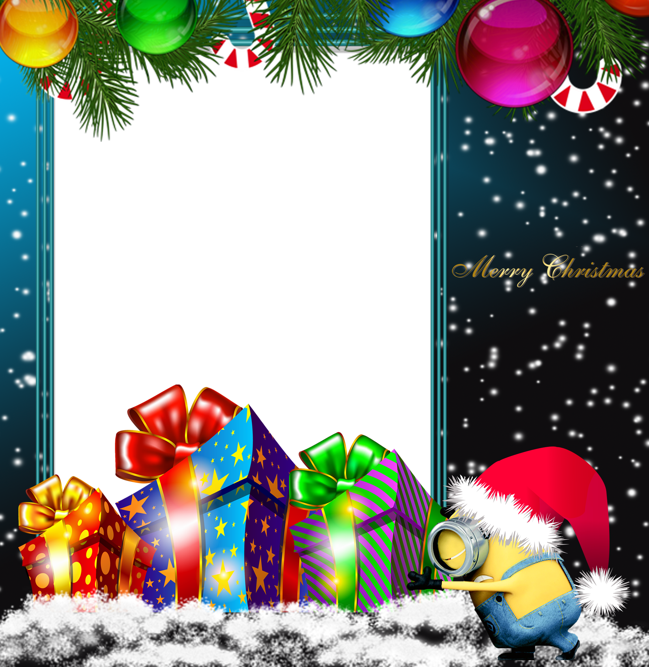 Merry Christmas PNG Minion Photo Frame | Gallery Yopriceville ...