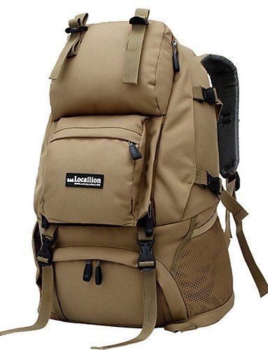 627151fcd77d Xiaofei Outdoor Climbing Package 40L Waterproof Nylon Backpack Camping Backpack  Tactical Multifunction Men And Women Travel Bag khaki     Click image for  ...