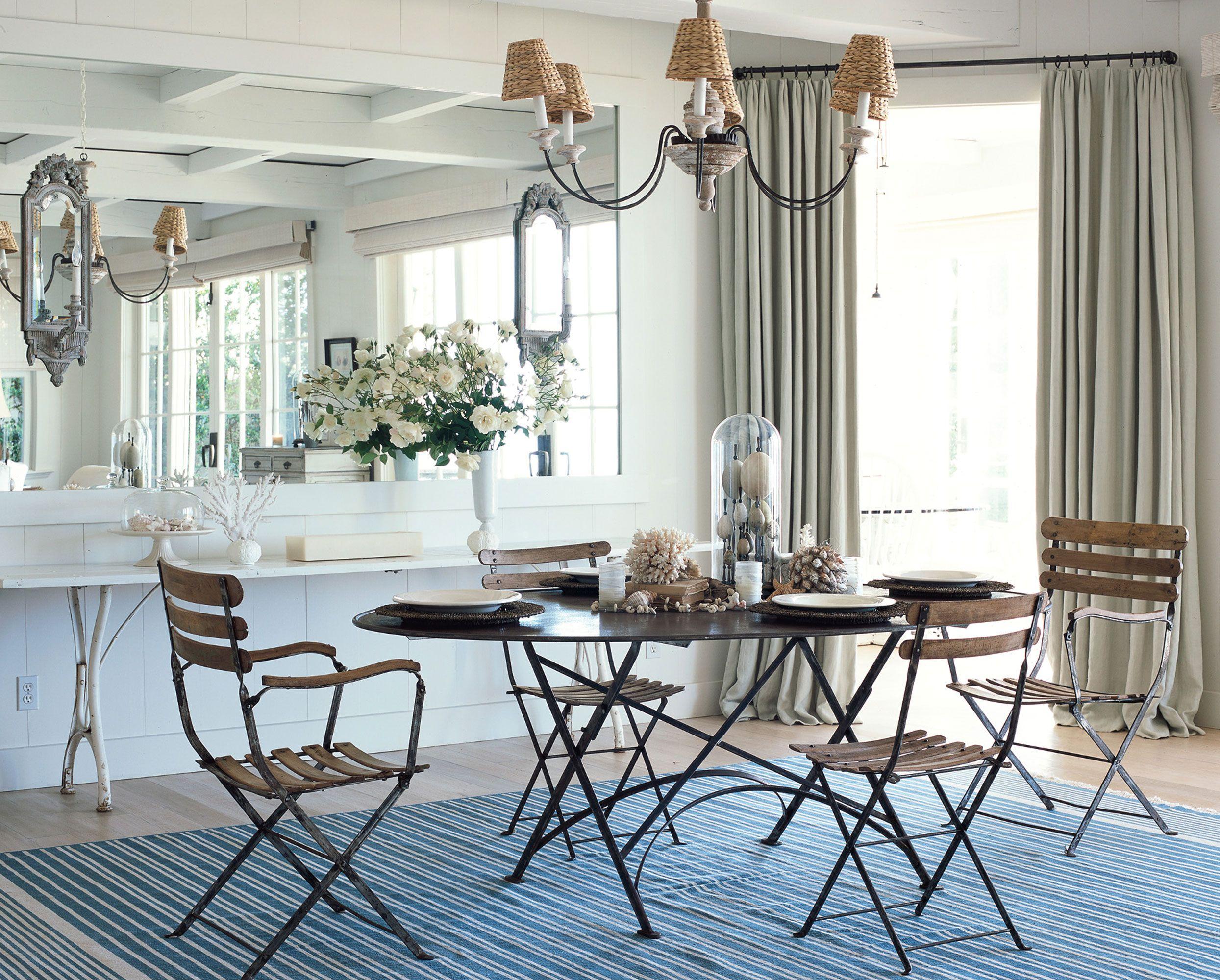 Carolyn Espley Miller Santa Barbara Beach House Dining Room Inspiration Dining Room Mirror Wall Mirror Dining Room