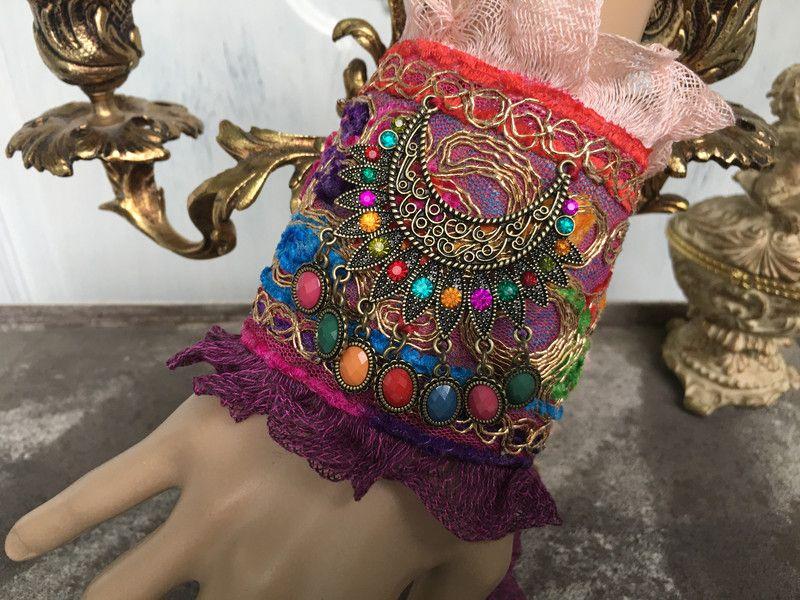 Armbänder - Armband, , Boho, Vintage, Gipsy - ein Designerstück von TASCHENWERK-C-S- bei DaWanda