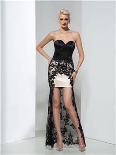 7a21546619 Ericdress Trumpet Empire Asymmetrical-Length Evening Dress