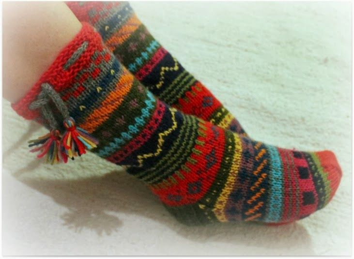 Mitä mieleen juolahtaa -sukat