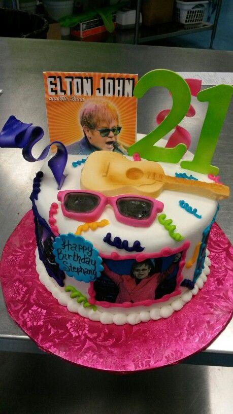 Elton John Adult Birthday Cake Birthday Cake Cupcake