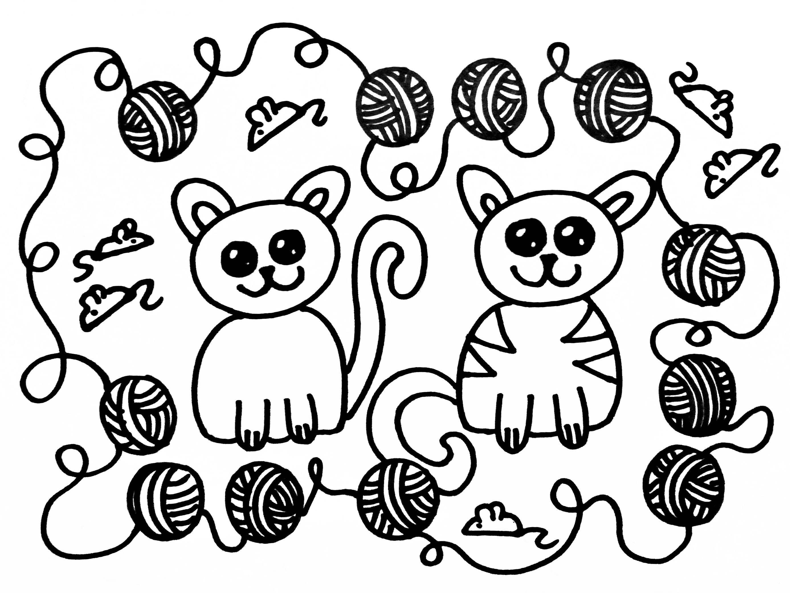 Pin Op Katten Tekening