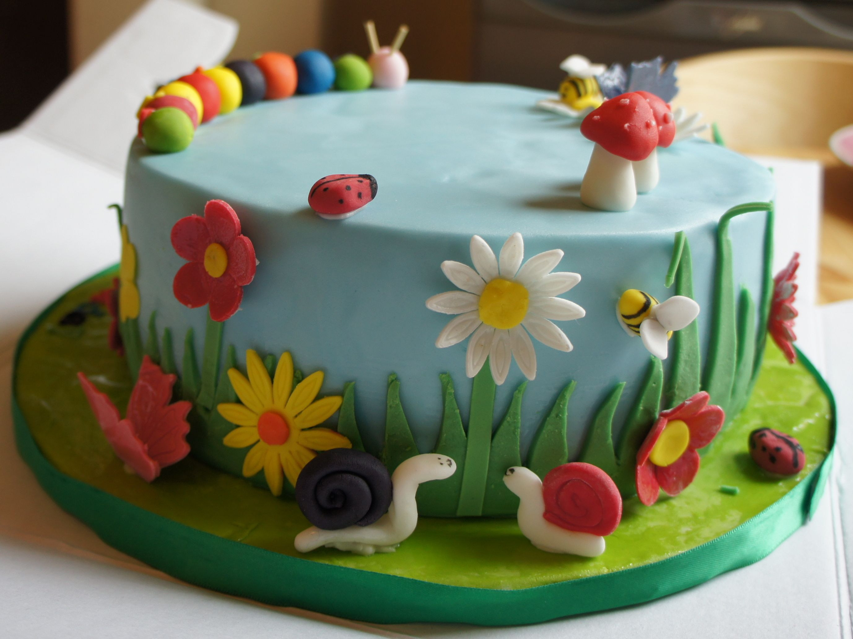 Garden Decoration For Cake : Cool cake idea for a spring cake, makes me want to learn ...