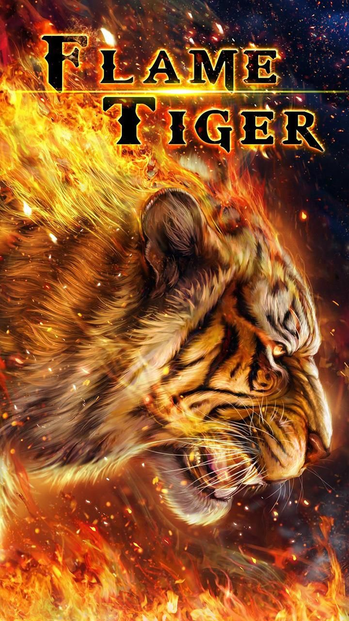 Cool Flaming Bengal Tiger Android Live Wallpaper Tiger Wallpaper Live Wallpapers Tiger Art