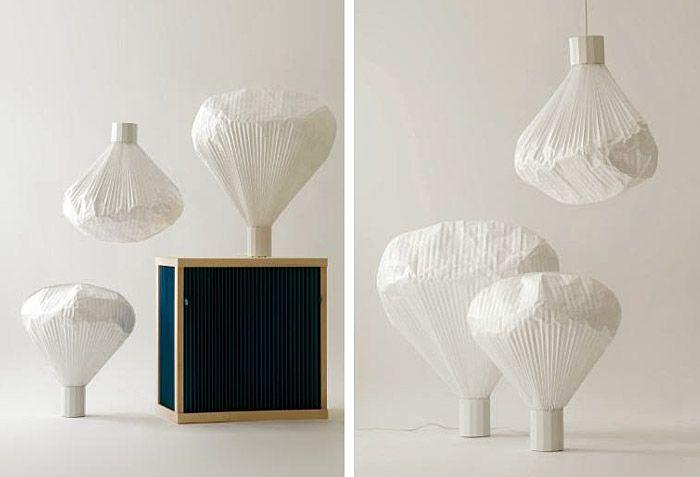 'Vapeur' paper lamp by Inga Sempé Home lighting design