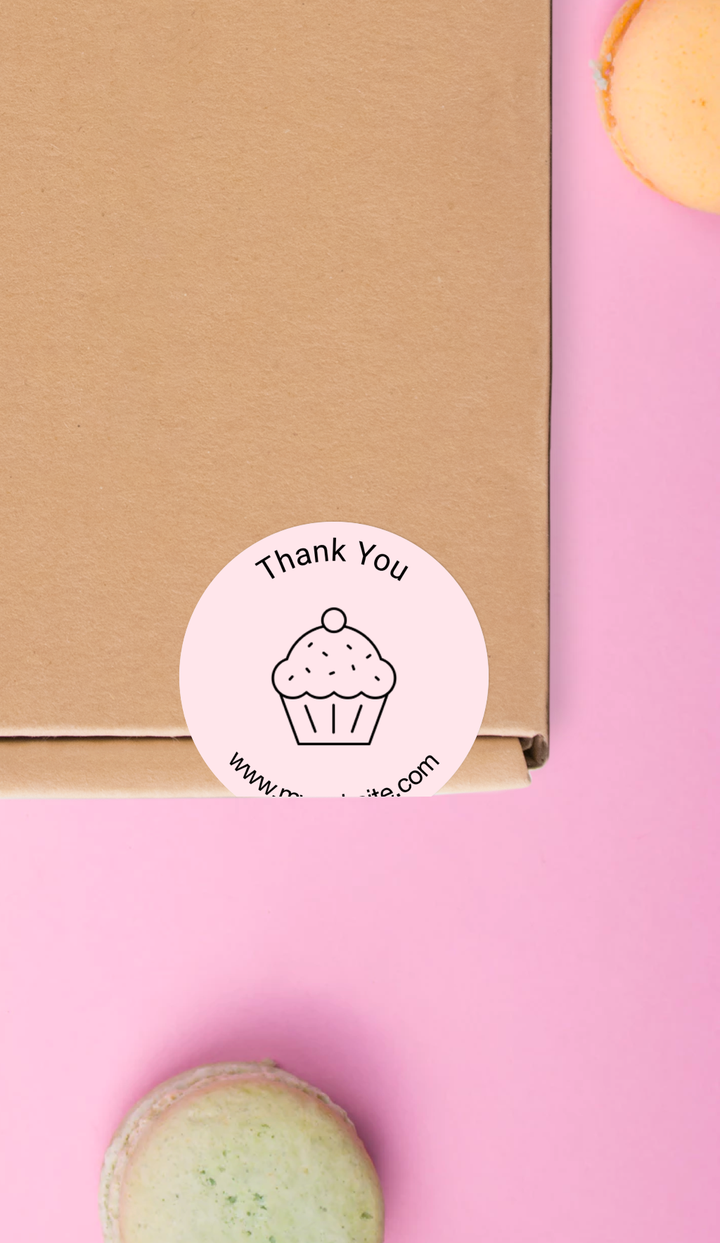 Custom cupcake stickers packaging labels
