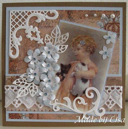 Voorbeeldkaart - Lief meisje - Categorie: Scrapkaarten - Hobbyjournaal uw hobby website