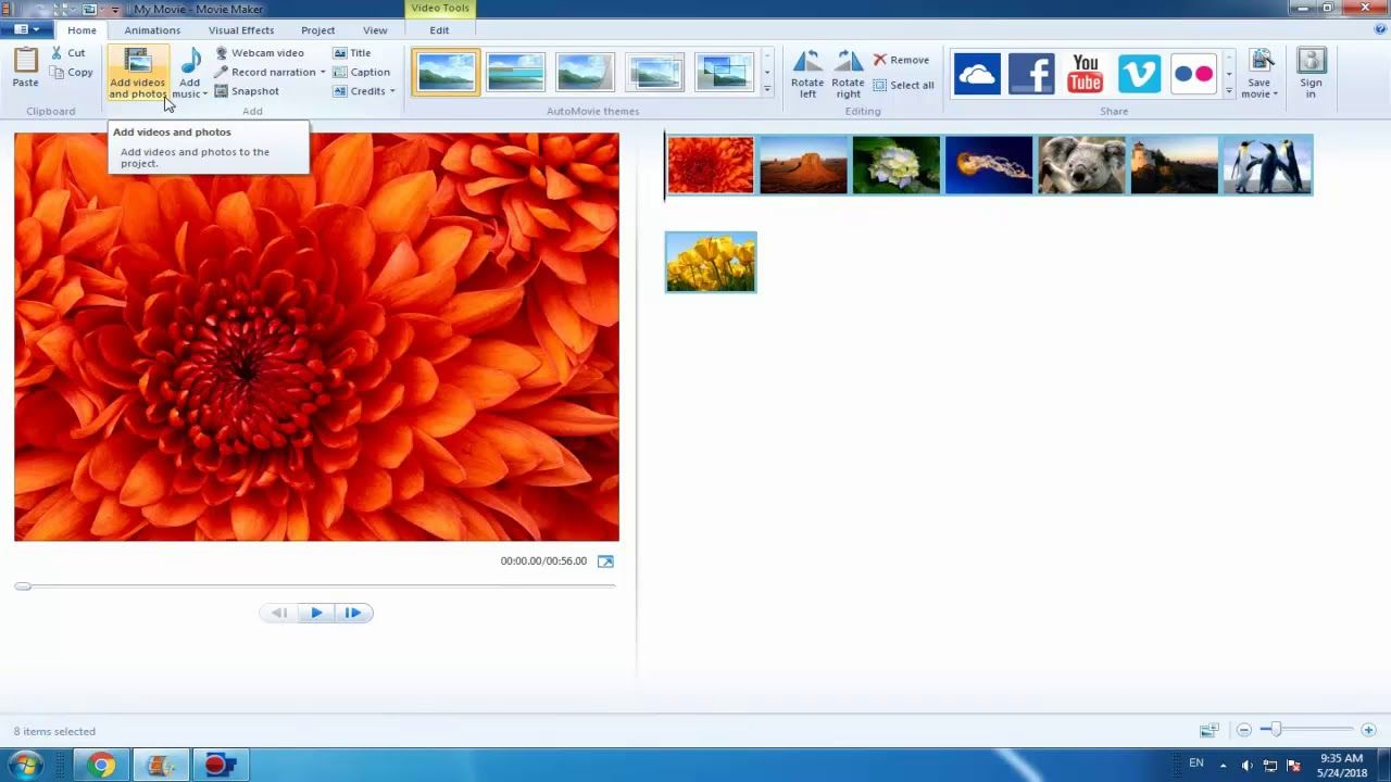 How To Add Pictures And Videos To Windows Movie Maker Movie Maker