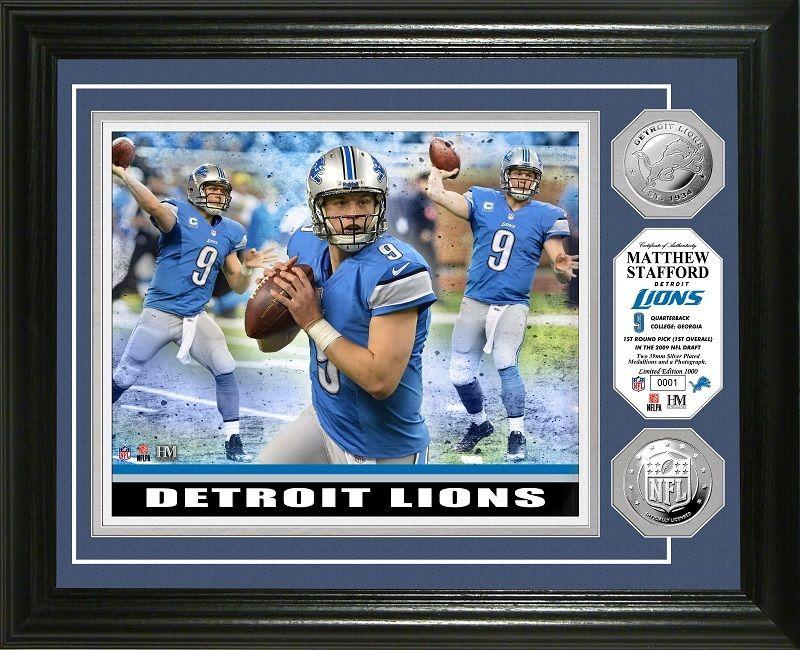 Aaa Sports Memorabilia Llc Matthew Stafford Triple Threat Silver Coin Photo Mint Detroit Lions Detroitlions Mat Detroit Lions Lions Detroit Lions Gear